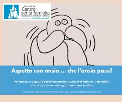 Gestione dell'ansia consultorio di Vimercate