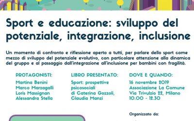 Gli Psicologi dello Sport di Fondazione Martini relatori ad un evento BookCity2019