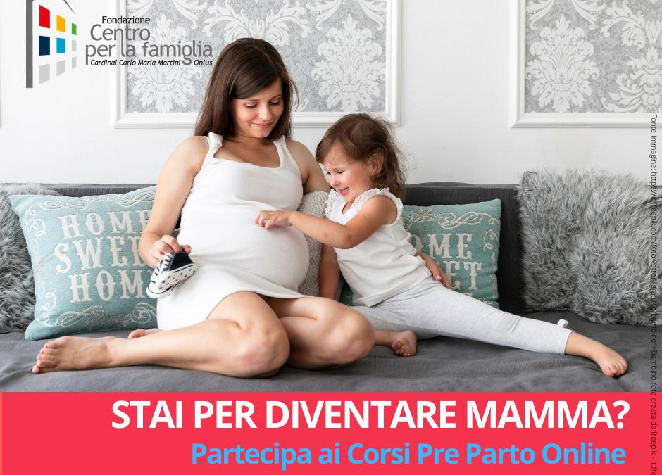 #NONSONOSOLO – Stai per diventare mamma? Partecipa ai Corsi Pre Parto Online