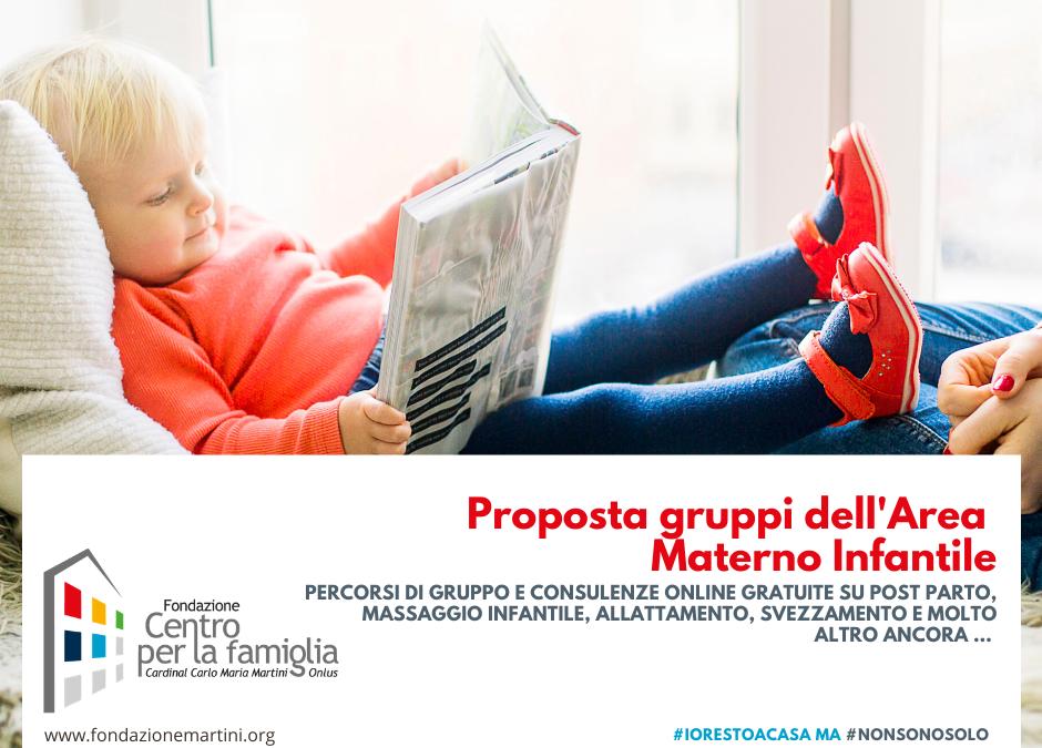 #NONSONOSOLO – Online TUTTA L'OFFERTA GRUPPI dell'AREA MATERNO INFANTILE