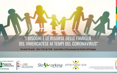 """Presentazione Report """"Bisogni e risorse delle famiglie del vimercatese ai tempi del Coronavirus"""""""
