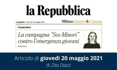 SOS Minori | Articolo de 'La Repubblica'