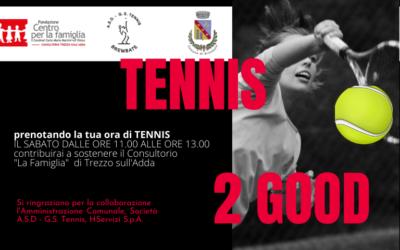 Tennis 2 Good – Giochi a tennis e sostieni il Consultorio di Trezzo sull'Adda