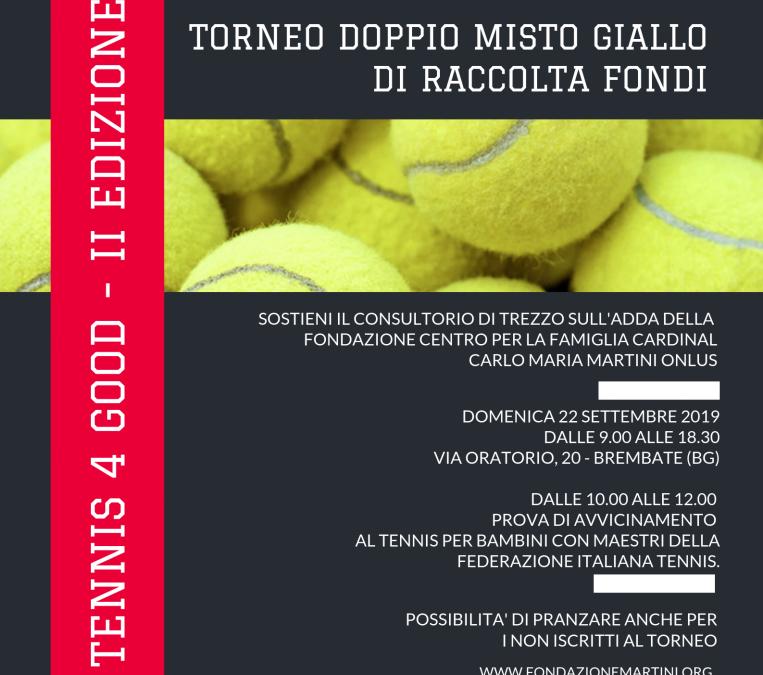 Tennis 4 Good – II Edizione a sostegno del Consultorio di Trezzo sull'Adda
