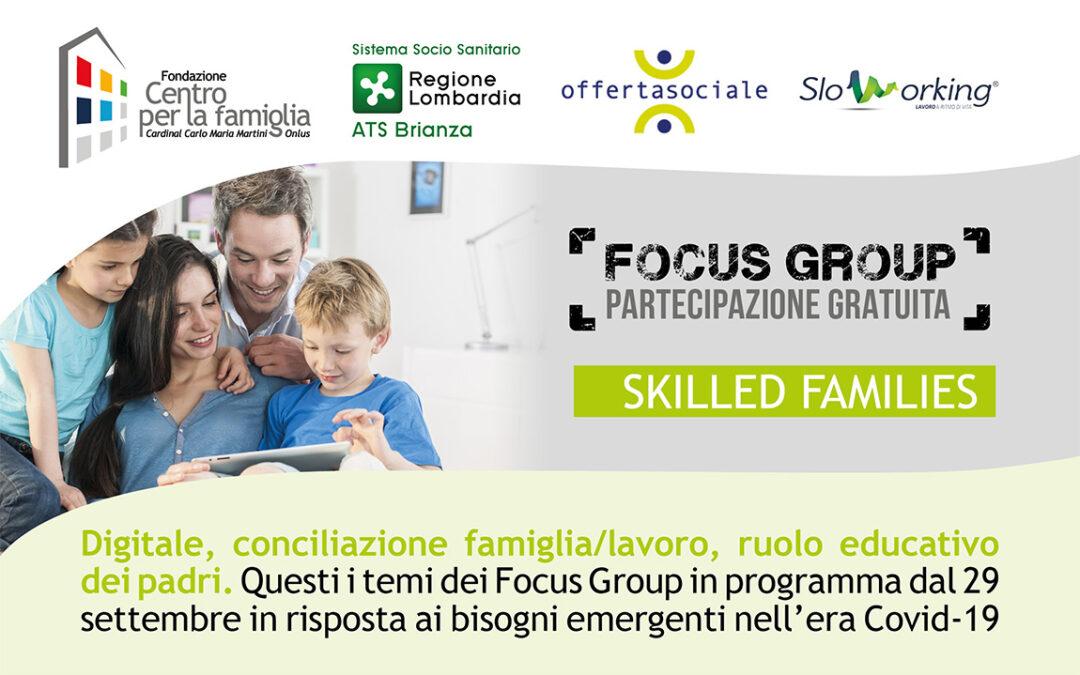 Progetto Skilled Families – Avvio dei Focus Group