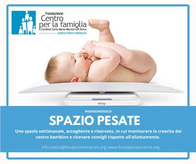 Spazio pesata per neonati Consultorio Vimercate