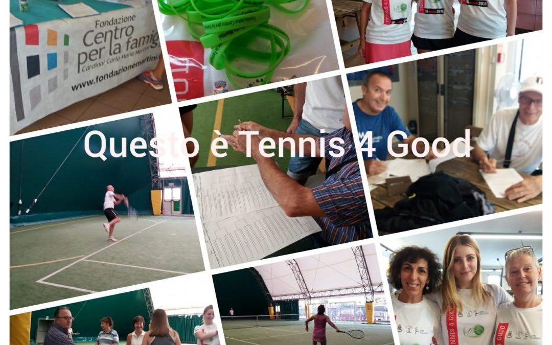 """Comunicato Stampa – Charity Day """"Tennis 4 Good"""" al Centro Sportivo di Brembate (BG)"""